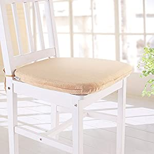 MochoHome Memory Foam Dining Chair Cushion Pad With Ties Camel