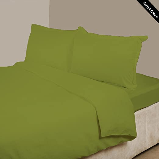 4 pc Attached Water Bed Sheets 1000TC Egyptian Cotton King Size All Solid Colors