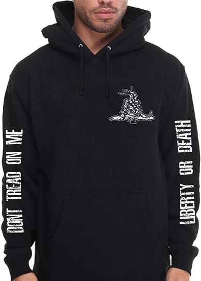 Dont Tread on Me Hooded Sweatshirt Black