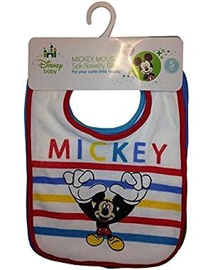 Mickey Mouse 5 Piece Novelty Bibs