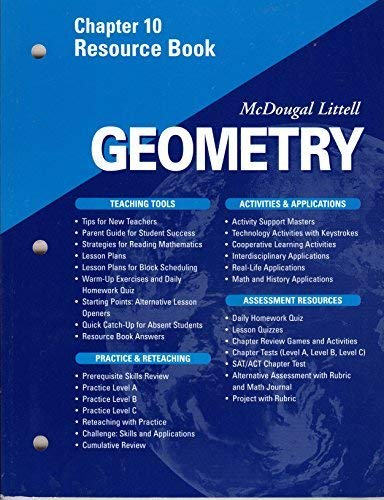 McDougal Littell Geometry Chapter 10 Book By McDougal
