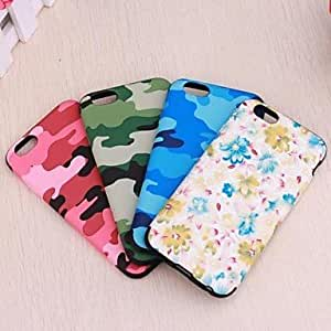 LIMME Colorful TPU+Leather Luxury Ultra Leather Cover for iPhone 6 Case 4.7 inch (Assorted Colors) , Camouflage Color