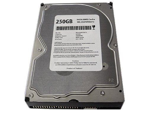- White Label 250GB 8MB Cache 7200RPM ATA100 (PATA) IDE 3.5