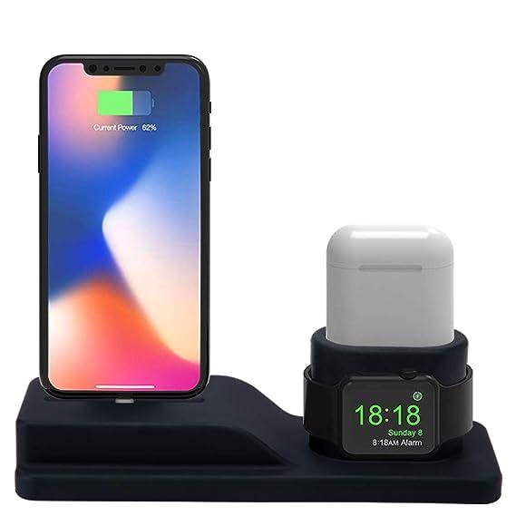 Amazon.com: Soporte para Apple Watch, 3 en 1 de silicona ...