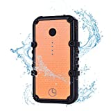 Luxtude EP134 13400mAh Waterproof Portable Charger, Dustproof Shockproof Battery Pack Rugged Rechargeable Outdoor Power Bank with Dual USB Ports Max 4.8A Quick Charge For iPhone, Android and More