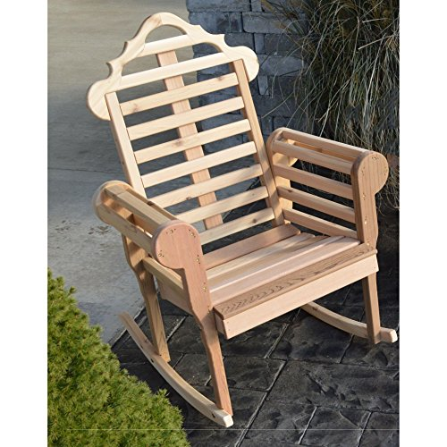 A & L FURNITURE CO. Western Red Cedar Marlboro Porch Rocker