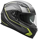 Vega Helmets RS1 Street Sunshield Motorcycle Helmet - DOT Certified Full Facerbike Helmet for Cruisers Sports Street Bike Scooter Touring Moped, Bluetooth Comp (Black Slinger Graphic, Small)