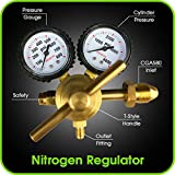 Tools & Hardware : Nitrogen Regulator with 0-800 PSI Delivery Pressure, CGA580 Inlet Connection and 1/4-Inch Male Flare Outlet Connection Durable Brass Accurate and Dependable