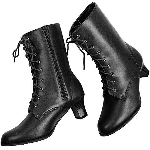 Price comparison product image KYOETSU Women's Boots for Japanese Hakama and Kimono Black/Brown 22.5cm - 26.0cm (5 US(22.5cm), Black)