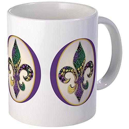 CafePress - Fleur De Lis Mardi Gras Beads - Unique Coffee Mug, Coffee Cup