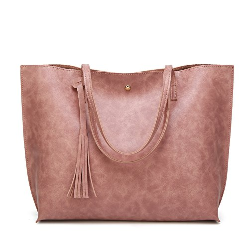 Sac à Grand Sac à épaule Main ASDYY Loisirs De Women's Sac Top La Main Sac Mode Pink Femmes Gland Simple W6UwTpR