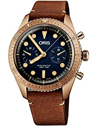 Carl Brashear Chronograph Limited Edition Bronze Watch 01 771 7744 3185-Set LS · Oris