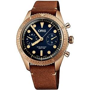Oris Carl Latón Cronógrafo Edición Limitada Bronce Reloj 01 771 7744 3185-Set LS 1