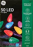 Ge C5 Crystal Led Light Set Multi Colored 50 Bulbs