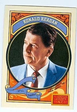 Ronald Reagan trading card (President of the Unted States) 2014 Panini Golden Age #119
