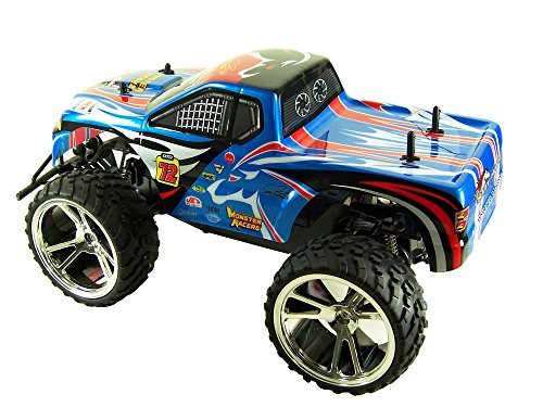 757-9023BLU Toycity Big Wheel Racing Truck Toy Electric R...