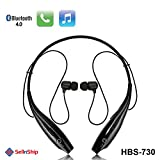 SONY compatible HBS-730 Neckband Bluetooth Headphones Earphones Wireless Sport Stereo Extra Bass Headsets Handsfree with Microphone for Android, Apple Devices, Xiaomi Mi, iPhone, Phillips, JBL, Vivo, Bose, Boat Rockerz, One Plus, Motorola, Mivi, QCY, Samsung, LG Tone mobile devices