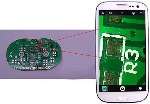 Majome 200/x Objectif macro Loupe Microscope num/érique Check on pour smartphones tablettes
