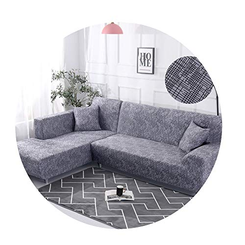 ZFADDS New Elastic Stretch Sectional Cover Wrap Sofa Cover Couch Cover L Shape Loveseat Single/Two/Three Seat,Color 22,1-Seat 90-140Cm ()