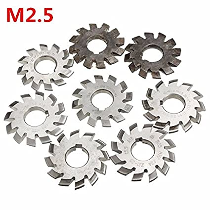 RanDal M2.5 Di/ámetro del agujero 22Mm # 1-8 Hss 20 Grados Fresa de engranaje de engranajes involuntarios # 1