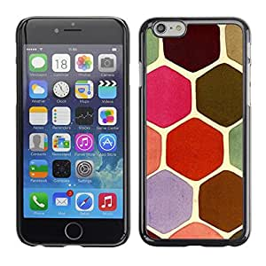 Planetar® ( Hexagon Scale Pattern Pink Moss ) Apple (5.5 inches!!!) iPhone 6+ Plus / 6S+ Plus Fundas Cover Cubre Hard Case Cover