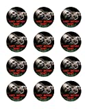 walking dead pictures - The Walking Dead 12 Cupcake Toppers TWD Zombie Edible Image Photo Cake Topper Sheet Personalized Custom Customized Birthday Party - 2.5 Inch (12 Toppers) - 76888