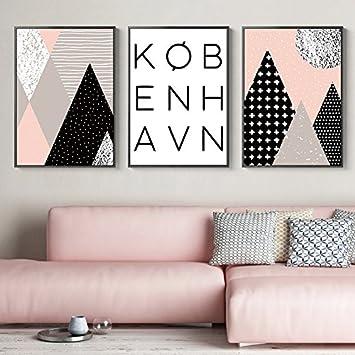 Paintsh Wohnzimmer Dekoration Malerei Sofa Hintergrund Öl Malerei Moderne,  Einfache Stil Triptychon Kreative Nordic Wandmalerei