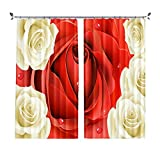 ZZHL Curtains Curtains, Blackout 2 Panels Hooks Rings Set Thermal Insulated Window Treatment Solid Eyelet for Living Room Bedroom (Size : 1.32x2.41m)