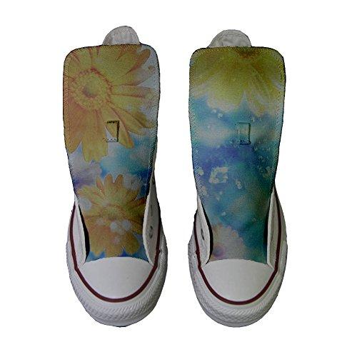 Converse Customized Chaussures Coutume (produit artisanal) tournesol de printemps