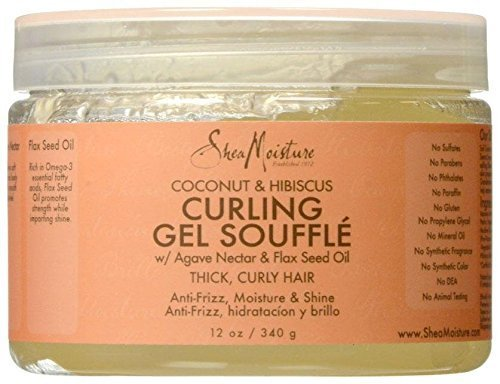 Hibiscus Coconut - SheaMoisture Coconut & Hibiscus Curling Gel Souffle - 12 oz
