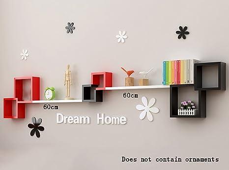Set mensole design salotto mensola a parete libreria muro wenge