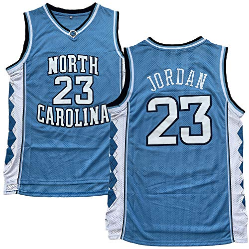 #23 North Carolina Tar Heels College Style Stitched Basketball Jersey (23 Blue, Large)