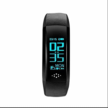 Reloj Inteligente Bluetooth Deportivo de Pulsera con tador de Pasos,Monitor de Dormir Notificación de mensajes ...