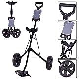 Tangkula-2-Wheel-Push-Pull-Cart-Foldable-Golf-Swivel-wScoreboard-Pull-Trolley