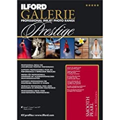 GALERIE Prestige Smooth Pearl paper features the very latest HDR (High Dynamic Range) optically clear nanoporous coating and coupled with recent advancements in nanoporous inkjet receiving layer design, makes this the reference media for prod...