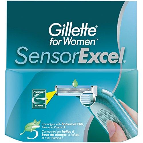 Gillette Sensor Excel Women's Razor Blade Refills, 10 Count (Gillette Sensor Razor Women)