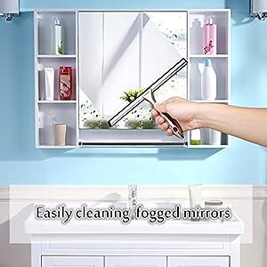 Shower Doors Squeegee Bath Squeegee Cleaning Squeegee Stainless Steel Squeegee Kitchen Countertops,Car Windshield Squeegee LUTAVOY KW16
