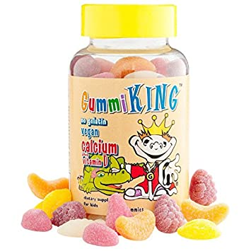 Amazon.com: Gummi King, Calcio Plus Vitamina D para niños ...