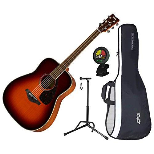 Yamaha FG820BS Solid Sitka Spruce Top Folk Acoustic Guitar (Brown Sunburst) w/G ()