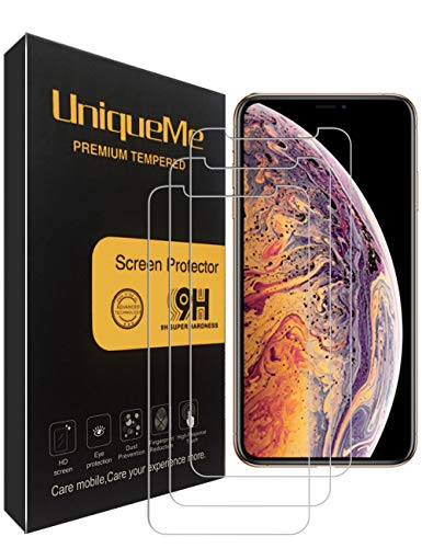 [3 Pack] INGLE Compatible with iPhone Xs Max Screen Protector, 9H Hardness Bubble Free Tempered Glass with Lifetime Replacement Warranty
