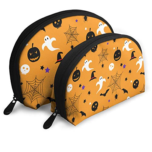 ElephantAN Halloween Spider Web Skull Multifunction Shell Portable Bags,Storage Bag,Buggy Bag,Travel Cosmetic Bags,Small Makeup Clutch,Pouch Cosmetic,Toiletries Organizer Bag