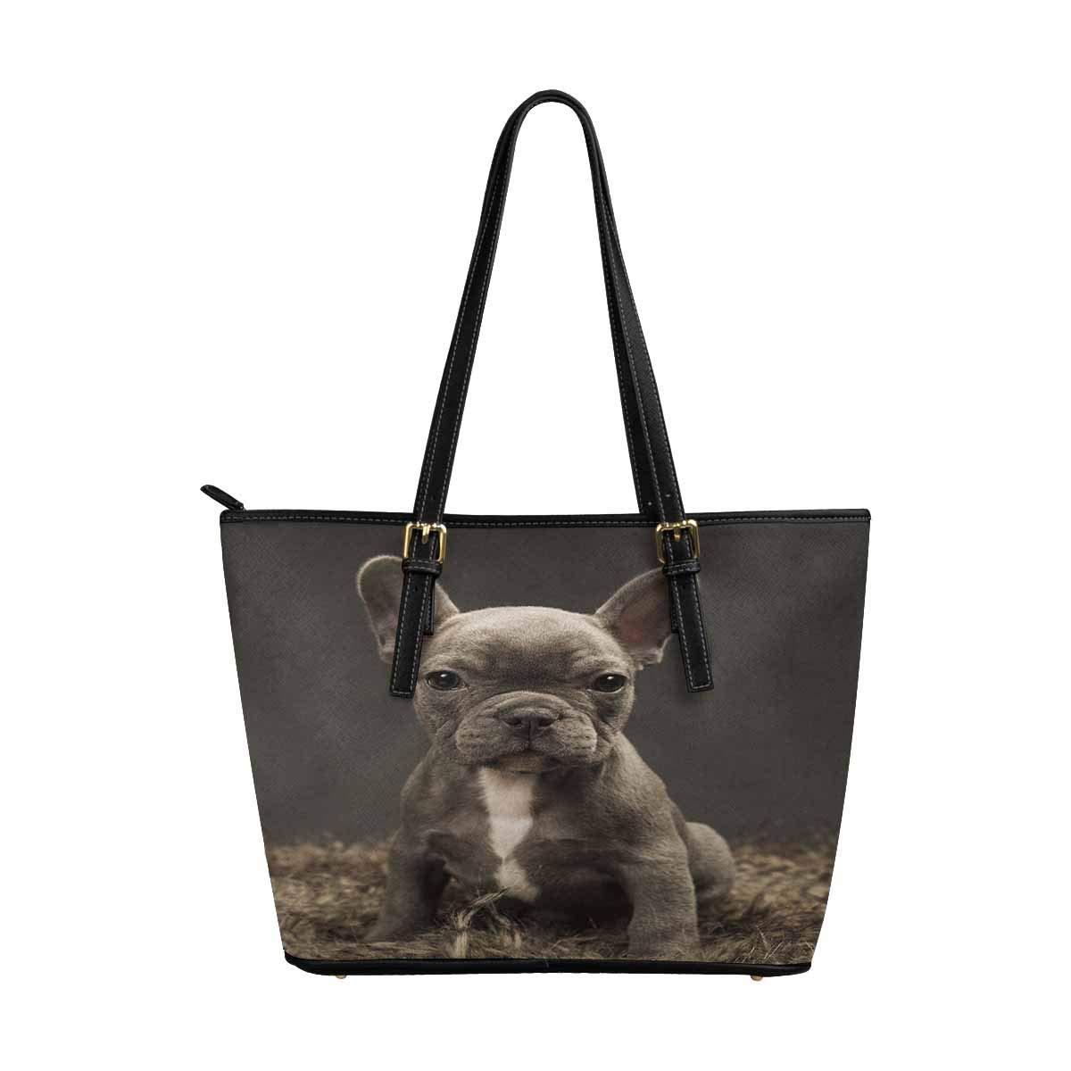 InterestPrint Top Handle Satchel HandBags Shoulder Bags Tote Bags Purse Baby French Bulldog Cute Puppy