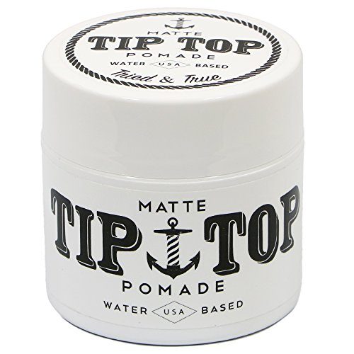 TIP TOP Matte Water Based Medium Hold Pomade 4.25oz Free Com