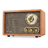 Victrola Retro Wood Bluetooth FM/AM Radio with Rotary Dial, Walnut (Renewed)