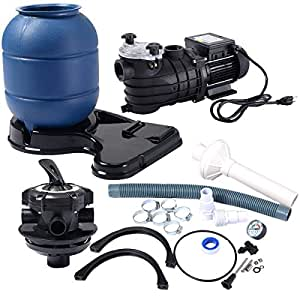 "BeUniqueToday Pro 13"" Above Ground Pools Sand Filter Pump 2450GPH Swimming Pool Pump 10000GAL Swimming Pool Pump"