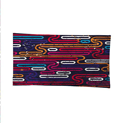ylarge tapestryAbstract Grunge Funky Lines 84W x 70L Inch ()