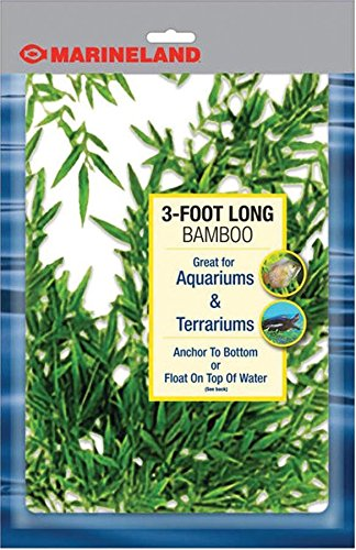 MarineLand Bamboo for Aquariums and Terrariums, 3-Foot (Plastic Aquarium Plant)