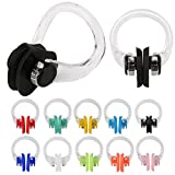 SAVITA Swimming Nose Clip with Waterproof Silica Gel for Kids and Adults, Multi-Color Box Package(10 Colors)