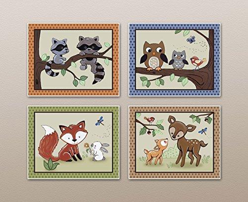 Woodland Animal Tales Nursery Prints product image