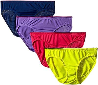 Fruit of the Loom Women's 4 Pack Breathable Bikini Panties